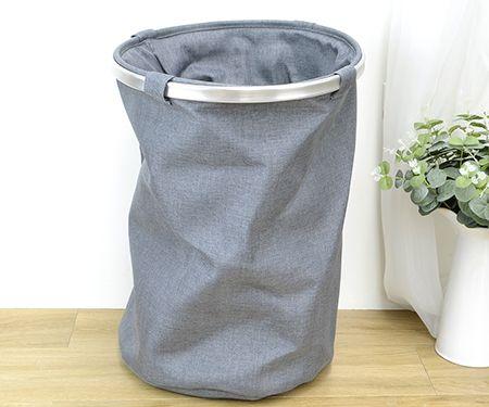 Soft Folding Laundry Basket Grey
