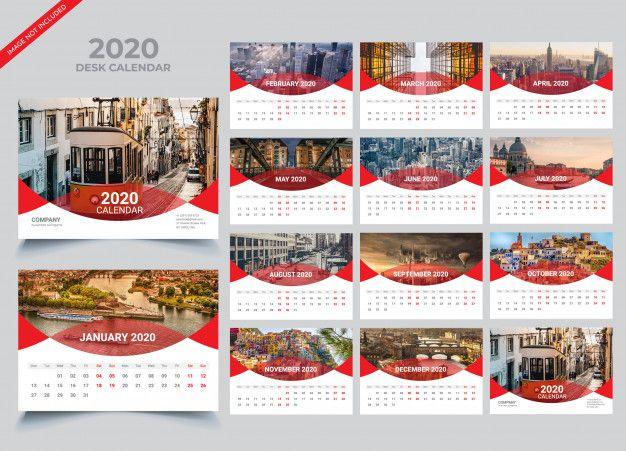 Desk Calendar 2020 Template Premium Vector Freepik Vector Calendar Business New Year Template Desk Calendars Calendar Calendar 2020