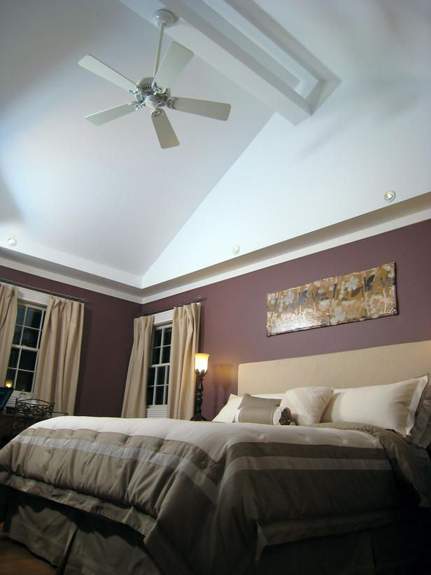 Hgtv shows you how they 39 raised 39 the roof in this master Master bedroom lighting ideas vaulted ceiling