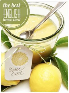 English Lemon Curd This is an old English recipe and is easy to make. It is easy and delicious lemon curd.  lemon curd  1 cup butter (salted or unsalted) 1 cup granulated sugar (superfine baker's sugar..not totally necessary) 3 eggs (room temp) well beaten grated rind and juice of 2-3 lemons