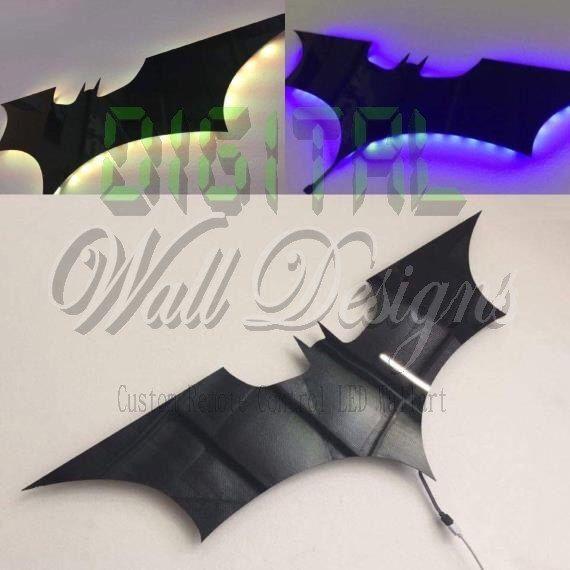 Remote Controlled LED Batman Dark knight Wall decoration night light Wall Art kids children night light by DigitalWallDesigns on Etsy https://www.etsy.com/au/listing/230629361/remote-controlled-led-batman-dark-knight