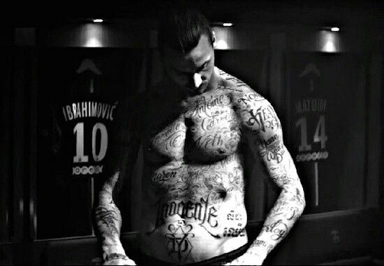 trying to do something new needs to find your own way to do it .. ibrahimovic tattoo