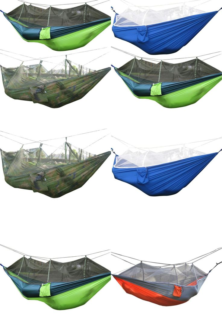 [Visit to Buy] 1-2 Person Mosquito Net Parachute Hammock Outdoor Camping Hanging Army Green Sleeping Bed Swing Portable Double Chair Hamac  #Advertisement