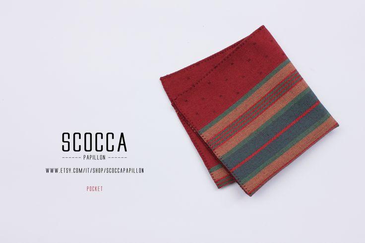 pocket square - manifattura sartoriale - 100% tessuto vintage - manifattura sartoriale - made in Italy