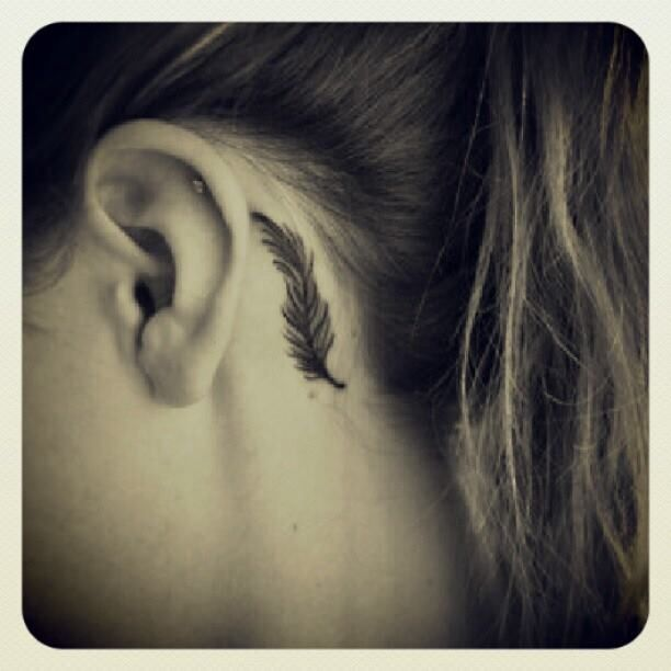 Small tattoo idea. Feather