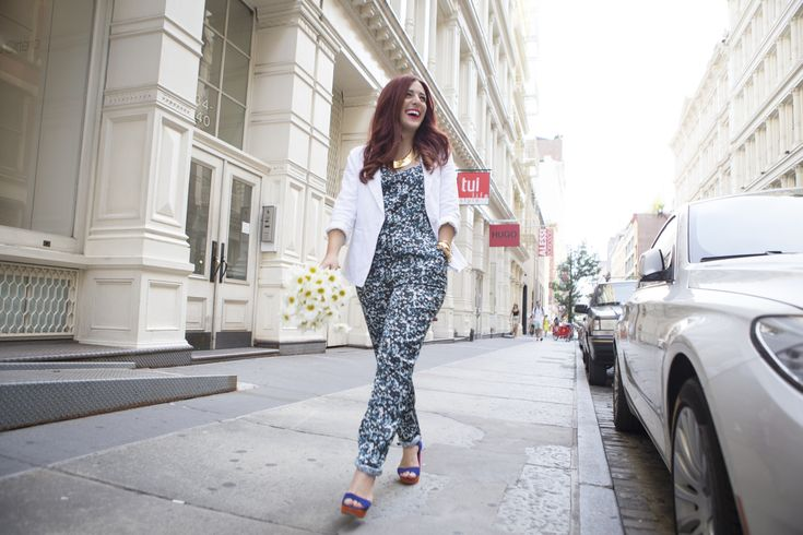 {My NYC Internship Story: How I Got an Internship at a Fashion Magazine and What I Learned | Simply Audree Kate}   NYC, Fashion Magazine, Fashion Internship, Floral Jumpsuit, Career Goals, Soho