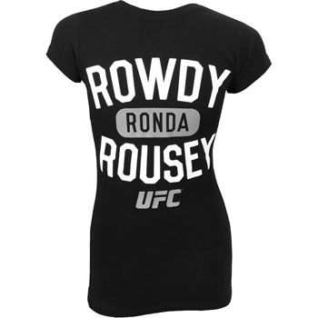 UFC Women's Ronda Rousey UFC 168 Walkout Shirt,Black,large