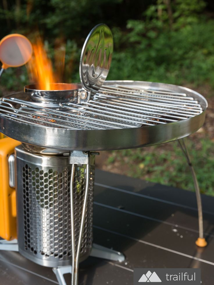 Our favorite campsite cookware: the BioLite CampStove 2 and Portable Grill deliver tasty, wood-smoked grilled flavor