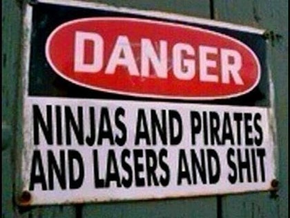 I shall put this sign on my gate when I have a house with a back yard.