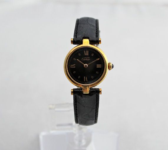 Classic Must de Cartier Ladies Watch by rubyfigcouture on Etsy, $980.00