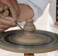 Pottery throwing. Most pottery places have classes for beginners