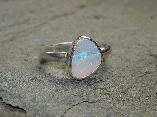1.35 Carat Australian Opal Ring