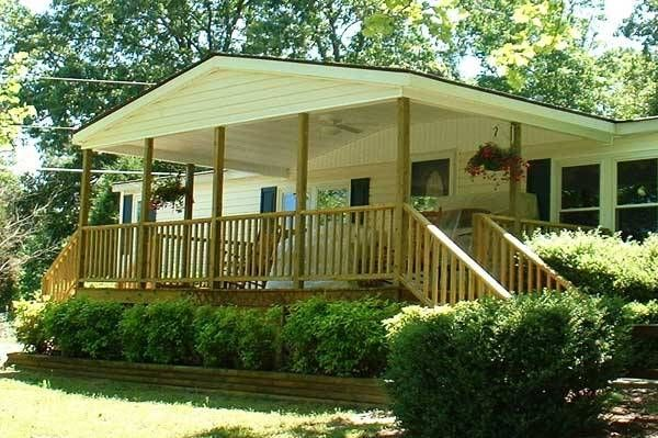 Mobile home deck ideas covered porch gallery tiny - Mobile home deck designs ...