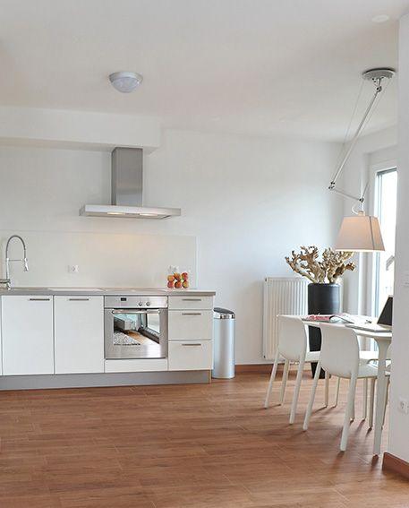 Kitchen_Herberia_Natural Wood floortile Oak,15x60. Cucina_Herberia_Natural Wood pavimento Oak,15x60.
