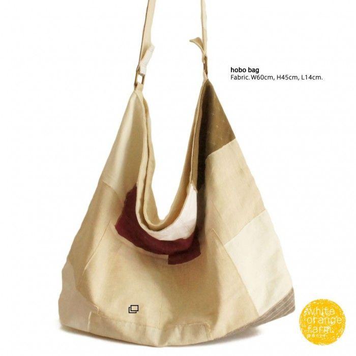 Vintage w/Linen /L #whiteorangefarm #mosseash #handmade #handmadebag #cotton #canvas #linen