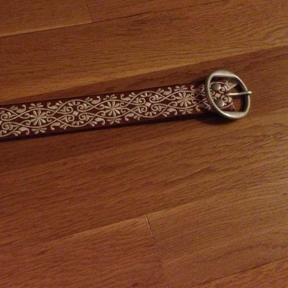 Lucky brand belt Brown with white design Lucky Brand Other