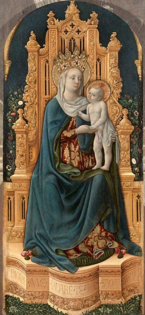 Antonio Vivarini - Madonna in trono con Gesù Bambino -1443 ca. - Padova, Chiesa di San Tomaso Becket (in deposito al Museo Diocesano)