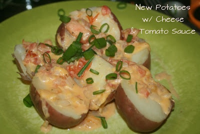 ... New Potatoes with Cheese & Tomato Sauce | Recipes | Pinterest | Potato