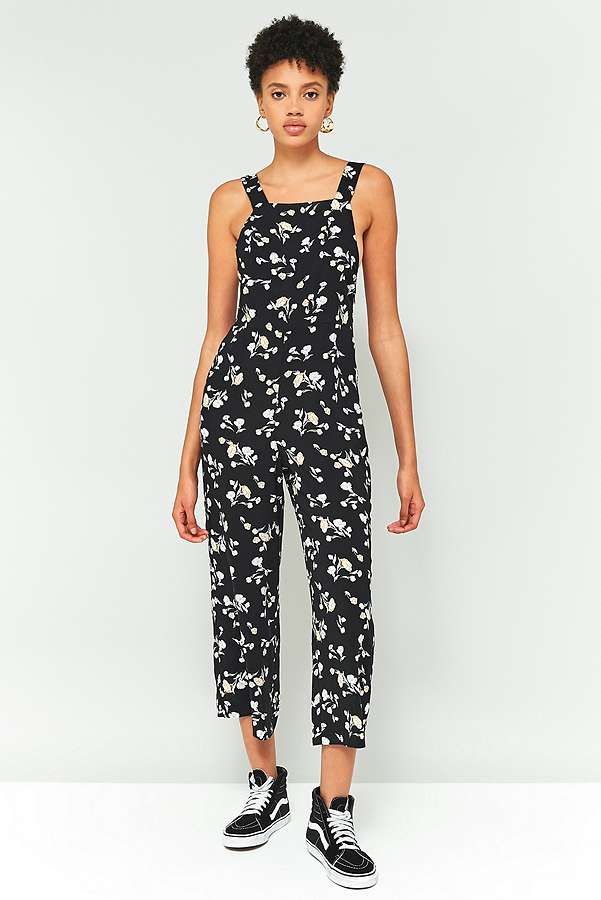 Pins & Needles Floral Cropped Jumpsuit