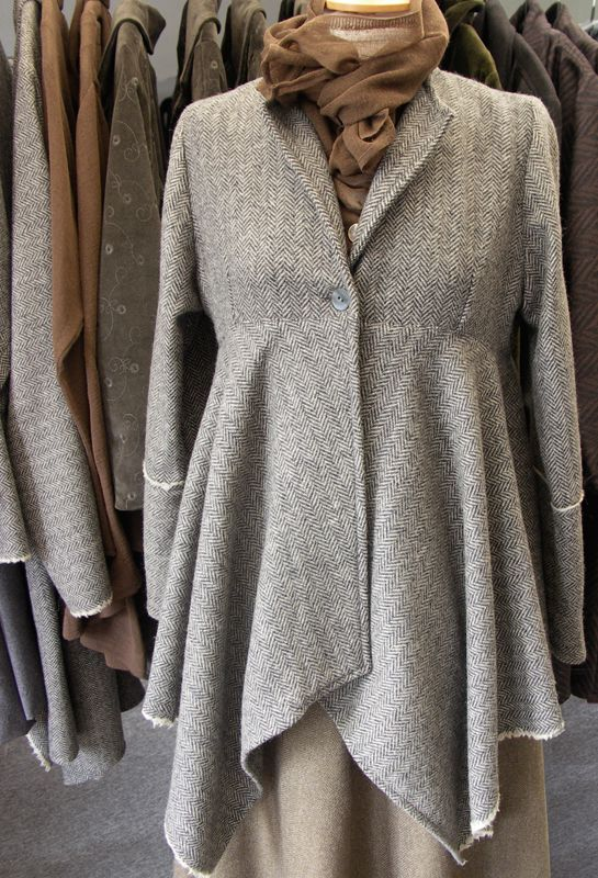 New York Jacket in herringbone cashmere £295, over Long Tie Shirt £179.