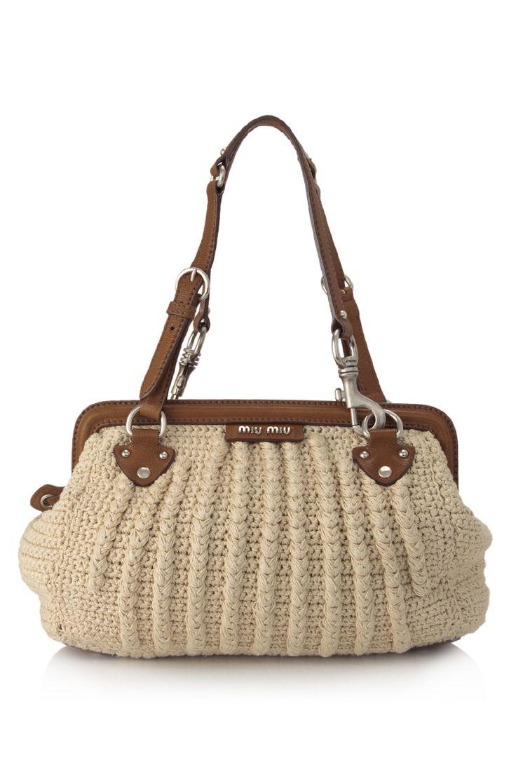 MIU MIU Crochet Frame Bag