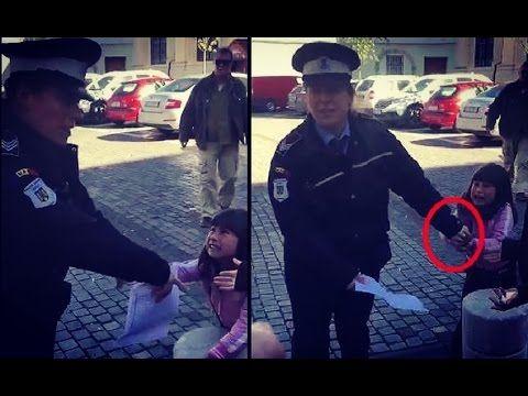 politia locala agreseaza fetita de 4 ani in centrul sibiului - YouTube