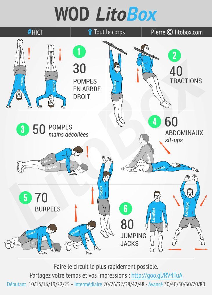 Entraînement full-body au poids du corps réalisable en 20 minutes.  + Pensez à…