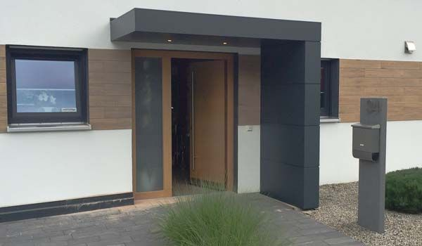Vordach Siebau Design Eingangsüberdachung Für Haustüren