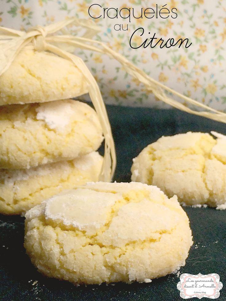 | Craquelés au citron | Crinkles  © Les Gourmands {disent} d'Armelle Un goût intense de citron, du moelleux, des cookies en quelque sorte mais en bien meilleur. Rien à ajouter sinon que ces biscuits craquelés au citron font désormais partie de mes incontournables...