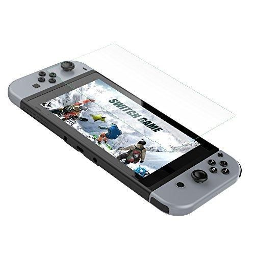 Switch Tempered Glass Screen Protector Glass GameWill Switch Screen Protector with Premium HD for Nintendo Switch 2017 CPerfect Clarity & Anti-Fingerprint Film