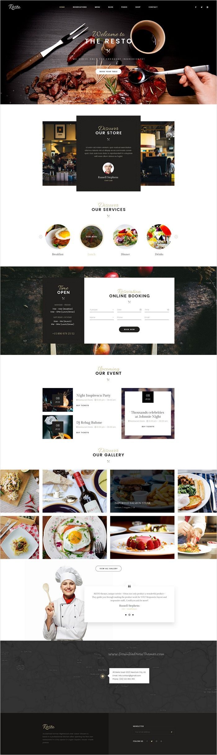 Resto is an attractive premium #PSD #template for awesome #restaurant, cafe or #food business website with 6 multipurpose homepage layouts and 22 organized PSD pages download now➩ https://themeforest.net/item/resto-multipurpose-restaurant-cafe-psd-template/17518251?ref=Datasata