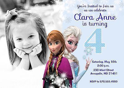Disney Frozen Birthday Party Printable Digital Invitation