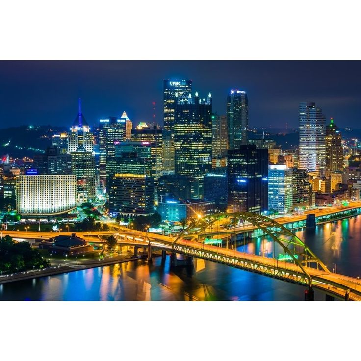 Noir Gallery View of Pittsburgh Skyline at