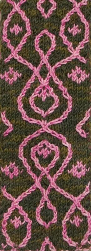 Not that I would do the double-knit cable thing.  But this might make a lovely embroidery pattern, quilting motif, or over-crochet on a scarf.