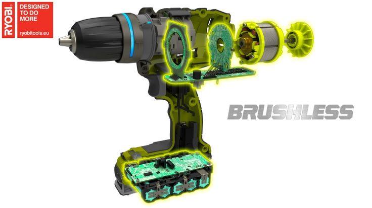 Les moteurs Brushless font leur apparition sur les outils électroportatifs Ryobi