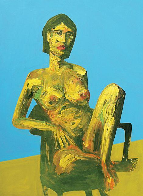 Seated Nude 90 x 120cm by artist Dean Reilly redhillgallery.com.au
