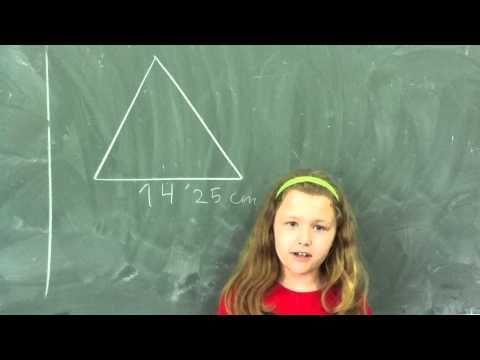 Antía y el perímetro de un triángulo equilátero