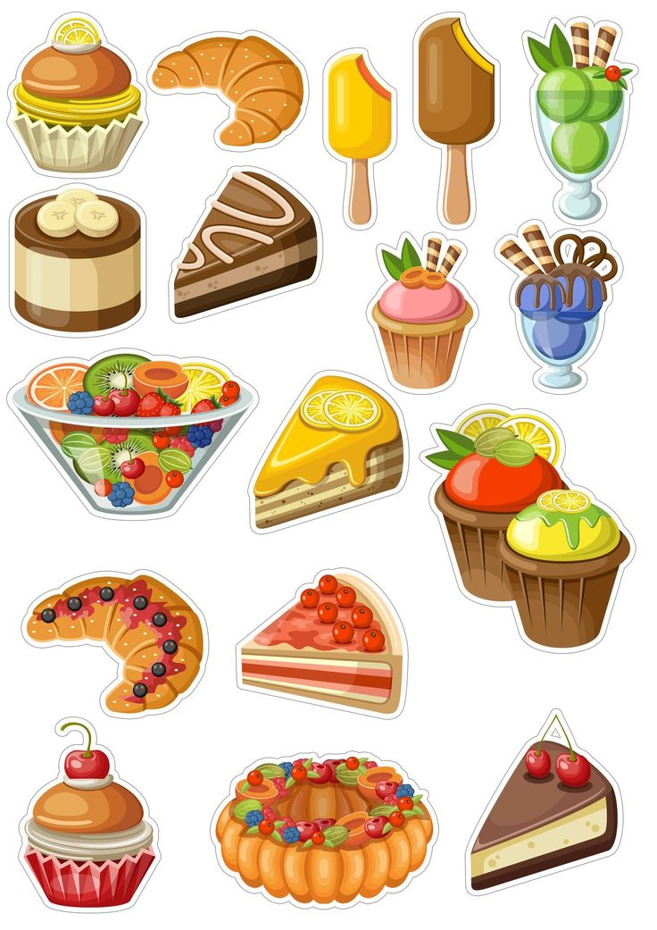 Картинки мультяшных продуктов