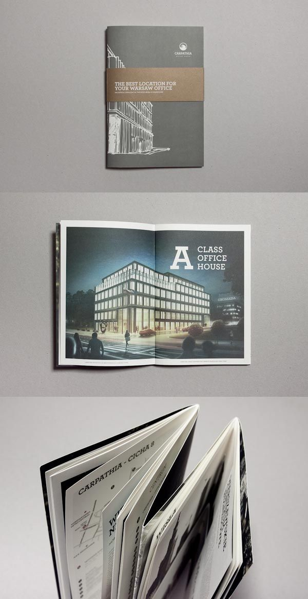 Carpathia – Office House Corporate Brochure Design 2013 // make the folding part of the narrative