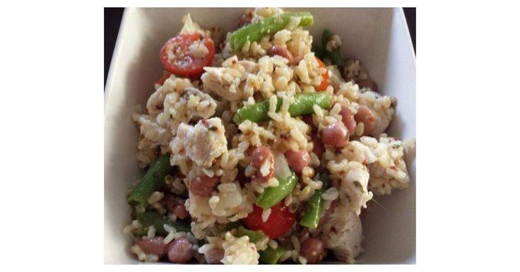 Chicken Bean and Rice Salad