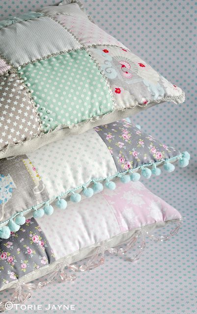 Patchwork cushions tutorial using Tilda fabric by Torie Jayne