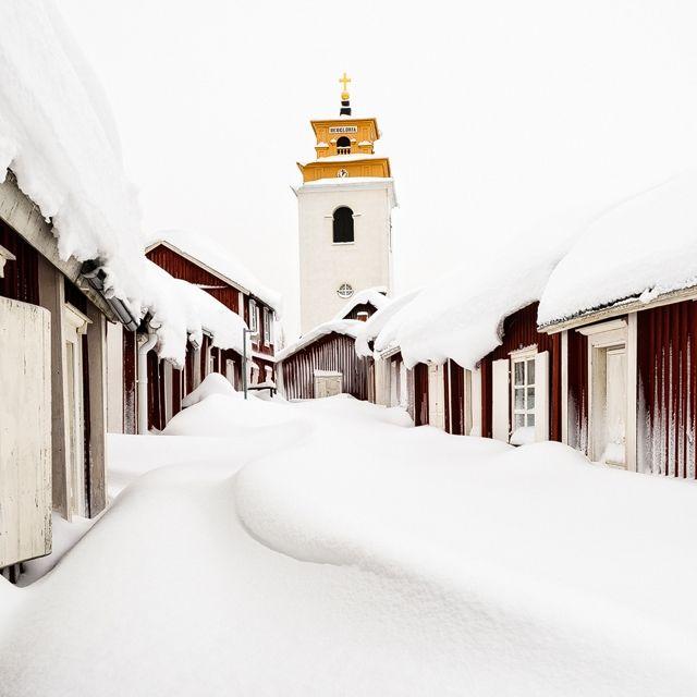 Gammelstads Kyrkby, Luleå, Sweden. 4 February 2015.