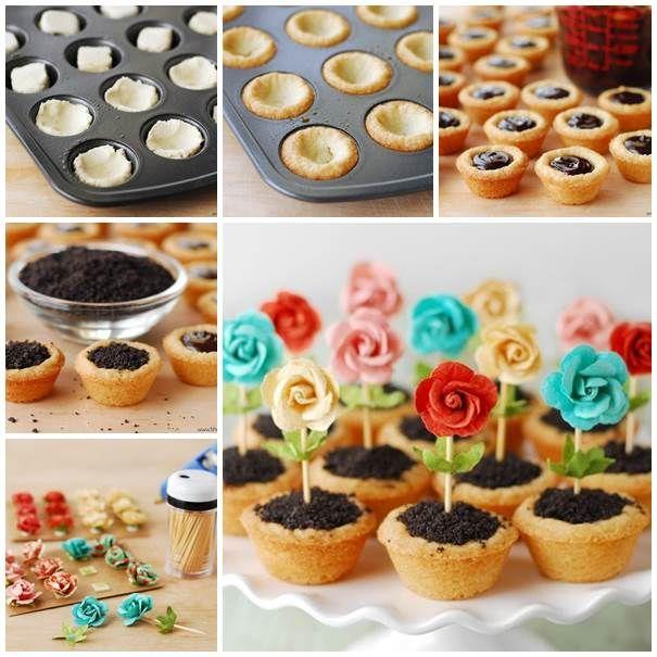 DIY Cute Flower Pot Cookies | iCreativeIdeas.com Like Us on Facebook ==> https://www.facebook.com/icreativeideas