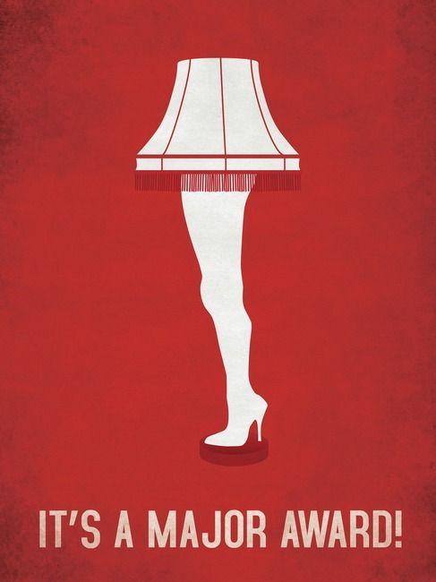 A Christmas Story leg lamp art poster