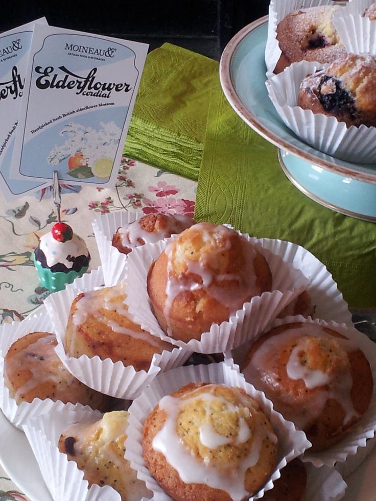Wild berries and elderflower muffins