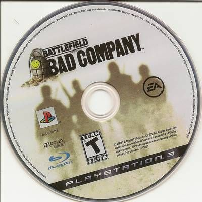 Battlefield: Bad Company (2008) R1 Cd Playstation 3 Cover