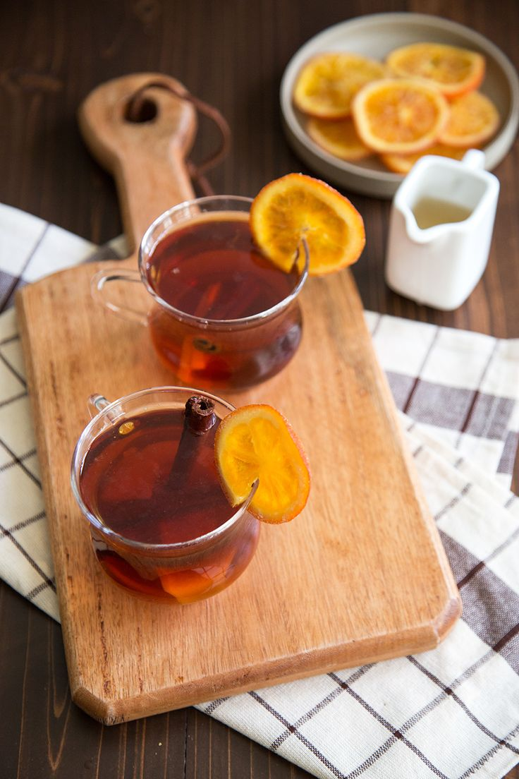 This orange spiced tea is steeped with orange peel, cinnamon, and ginger. It's the perfect tea to cozy up with this autumn season!