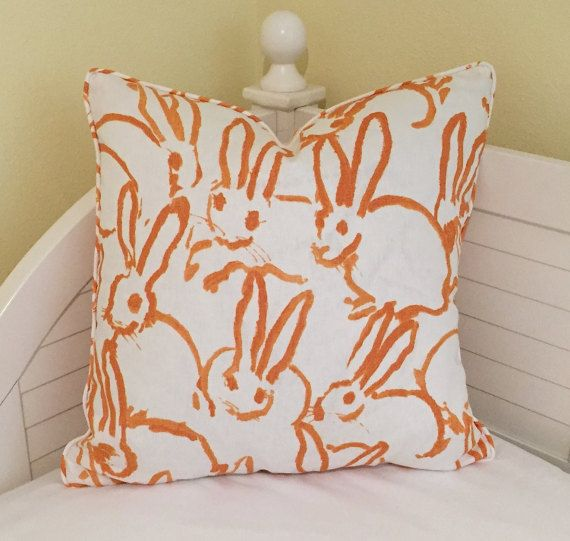 Groundworks Bunny Hutch Designer Pillow Cover by SewSusieDesigns