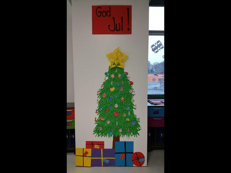 Jul i klasserommet til 2A.