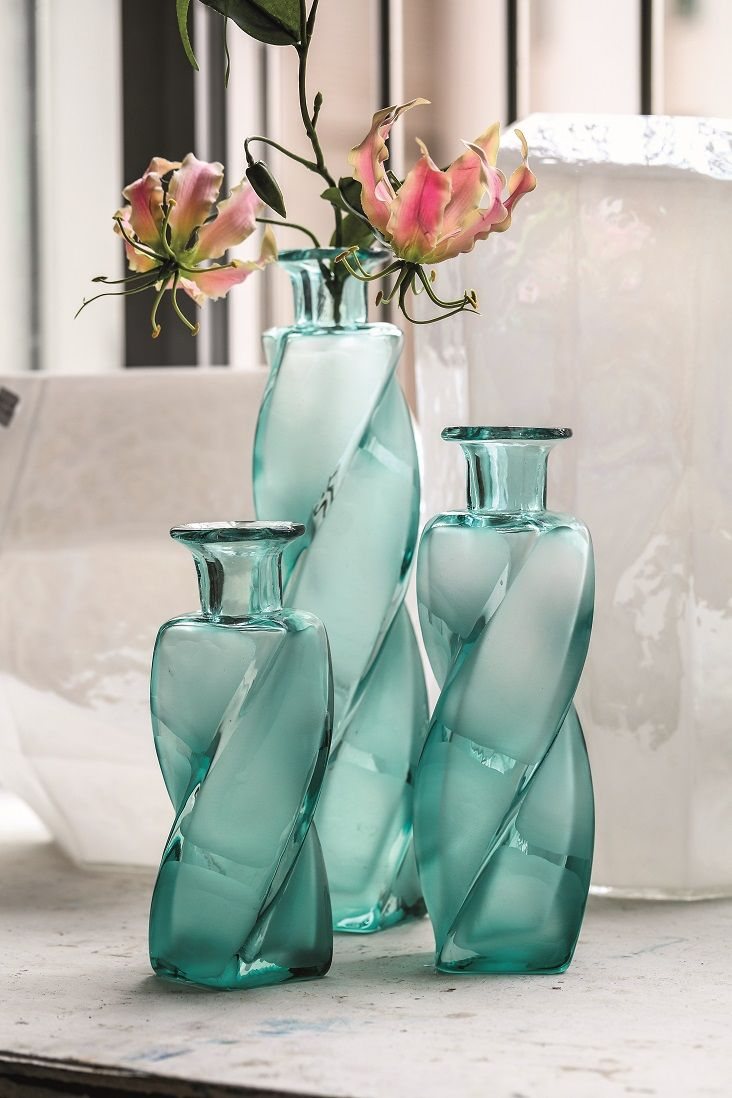 Handgeblazen glazen fles van PTMD. #ptmd #handblown #glass